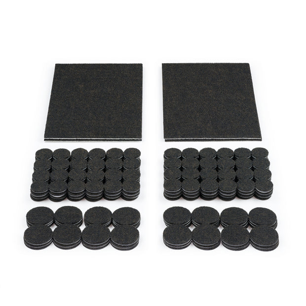 Heavy Duty Felt Pads - Assorted Value Pack, 228 Pieces