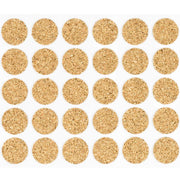 "1/2"" Diameter Light Duty Cork Pads By Roll"