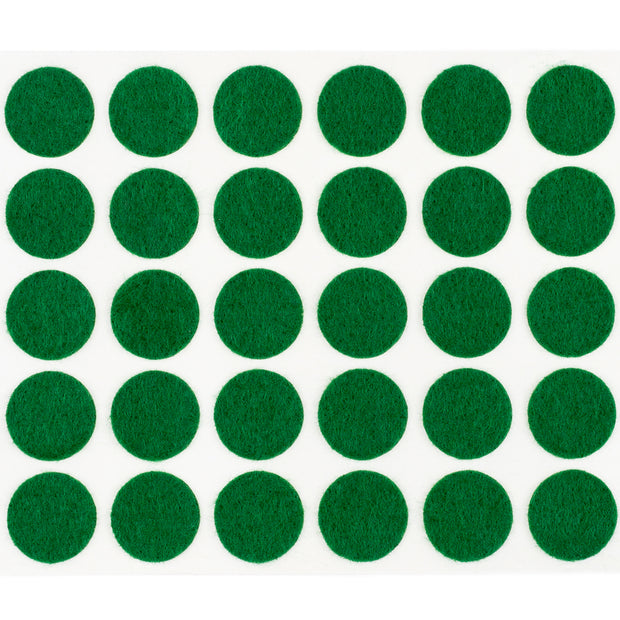 "3/8"" Diameter Light Duty Felt Pads By Roll - Green"