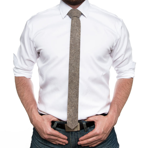 Wool Felt Skinny Tie - FINAL SALE