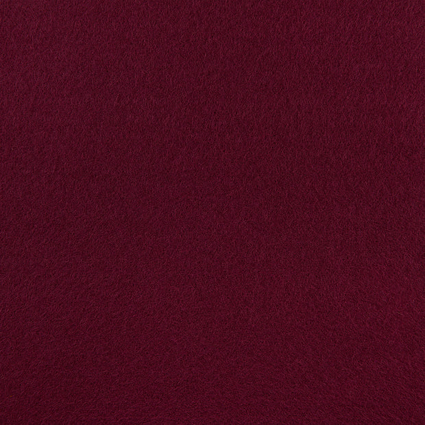 Wool Blend Craft Felt By Yard - Burgundy