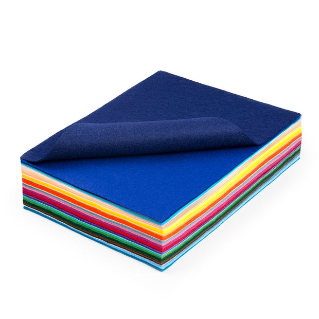 Premium Wool Blend Craft Felt Assorted Sheets - Sizes Vary - FINAL SALE