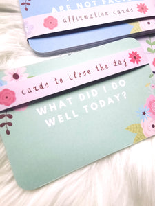 Affirmation Cards - To Close The Day