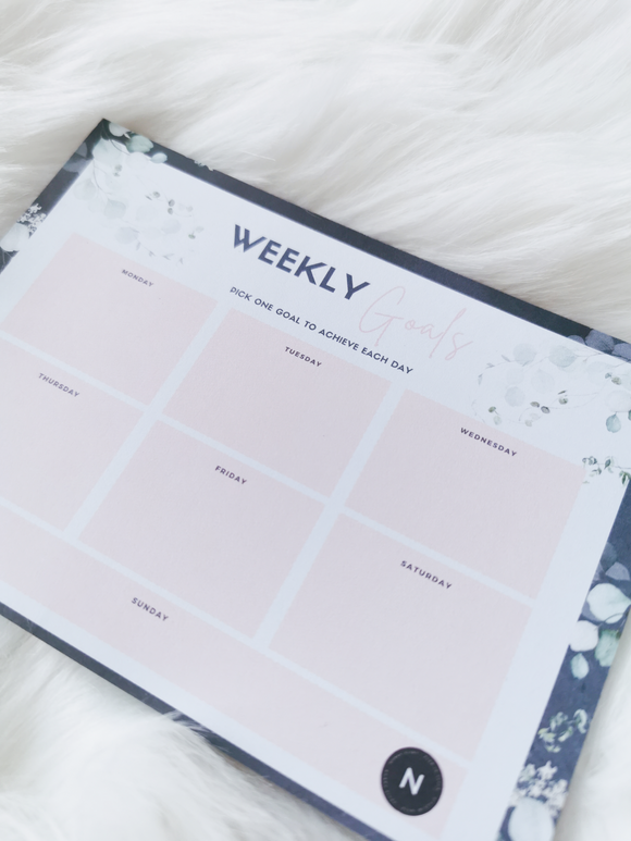 Weekly Goals Notepad