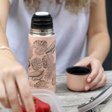 Pink Leaf Thermal Flask