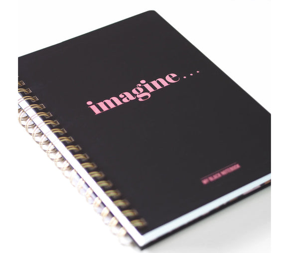 Imagine - Black Notebook