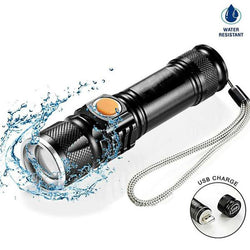 2000LM Led Flashlight - Recharge with USB port!