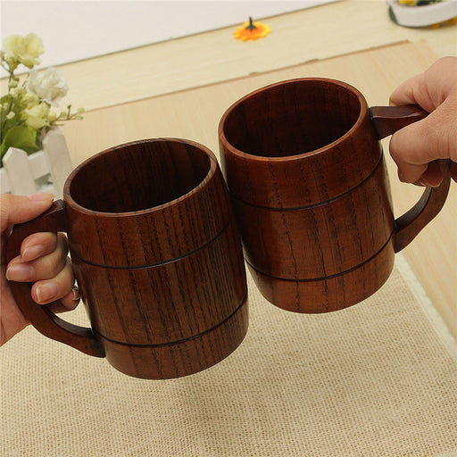 Wooden Beer Mug/Drink Cup