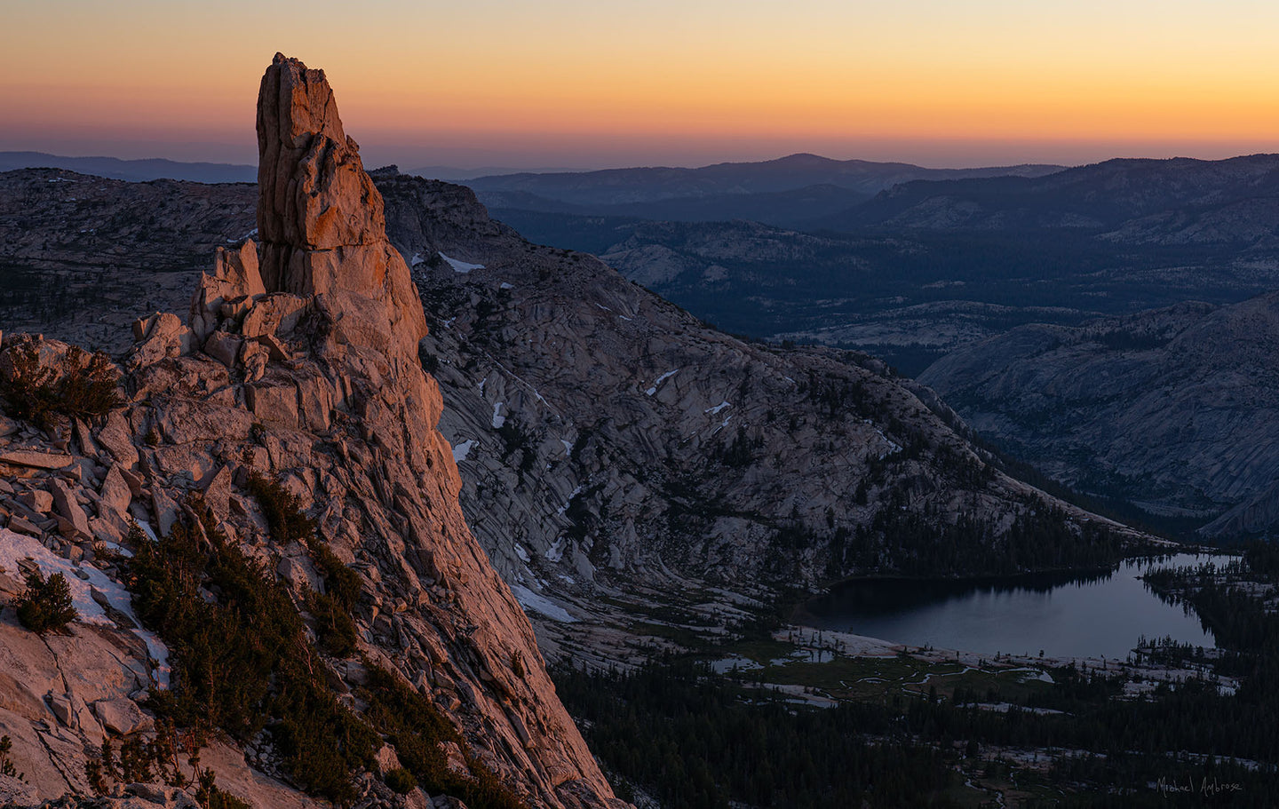 Dusk, Eichorn Pinacle, Yosemite