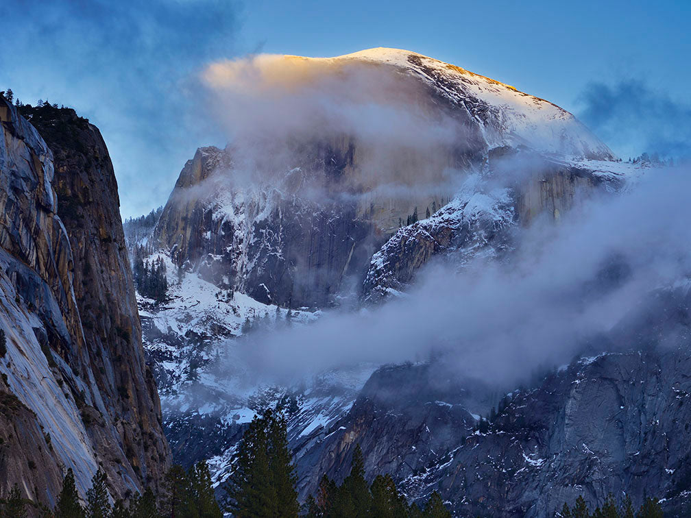 Half Dome and Drifting Clouds