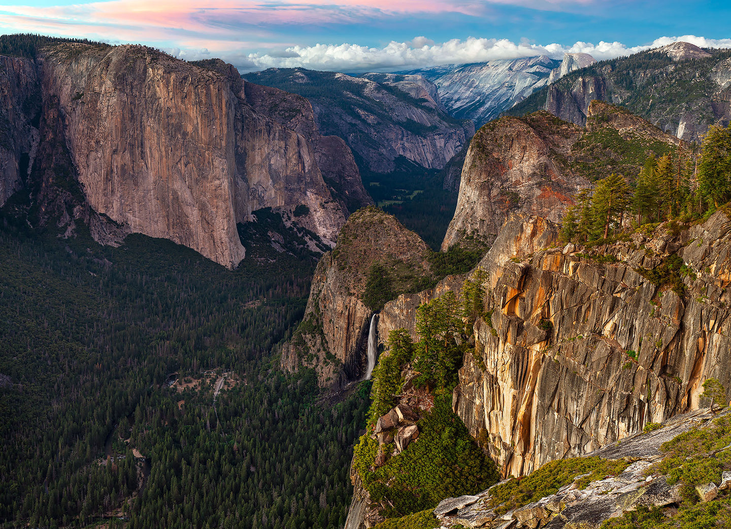 Bridalveil Fall and Yosemite Valley from Stanford Point