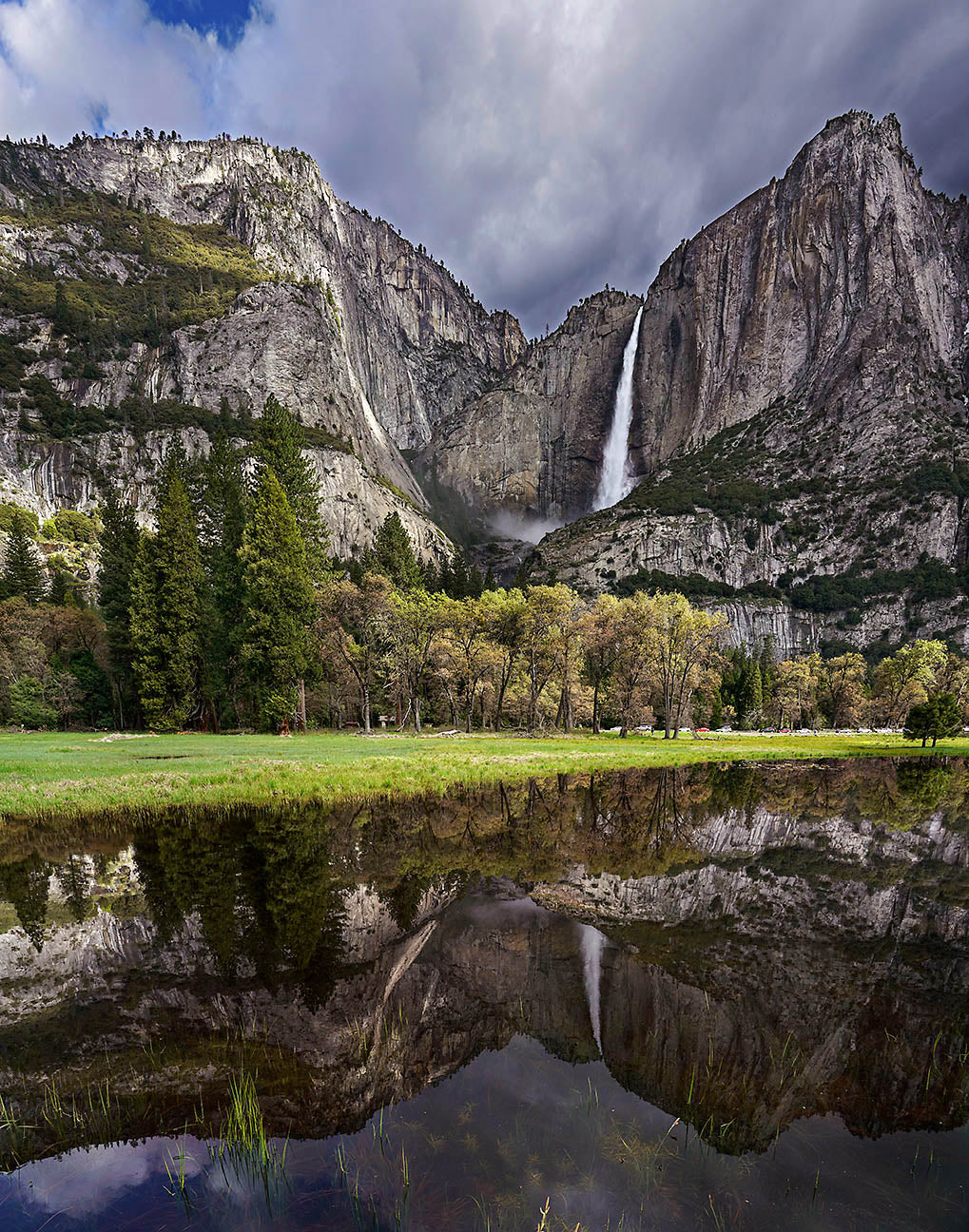 Yosemite Falls and Reflecting Pool