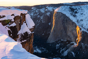 Winter Light on Horsetail Fall from Taft Point