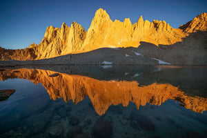 Sunrise on Mount Whitney from Iceberg Lake