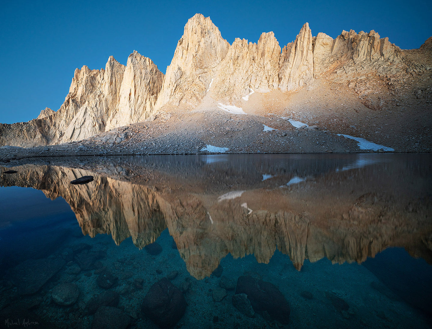 Predawn  Mt. Whitney and Iceberg Lake