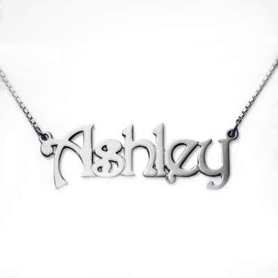 Sterling Silver Trendy name Necklace