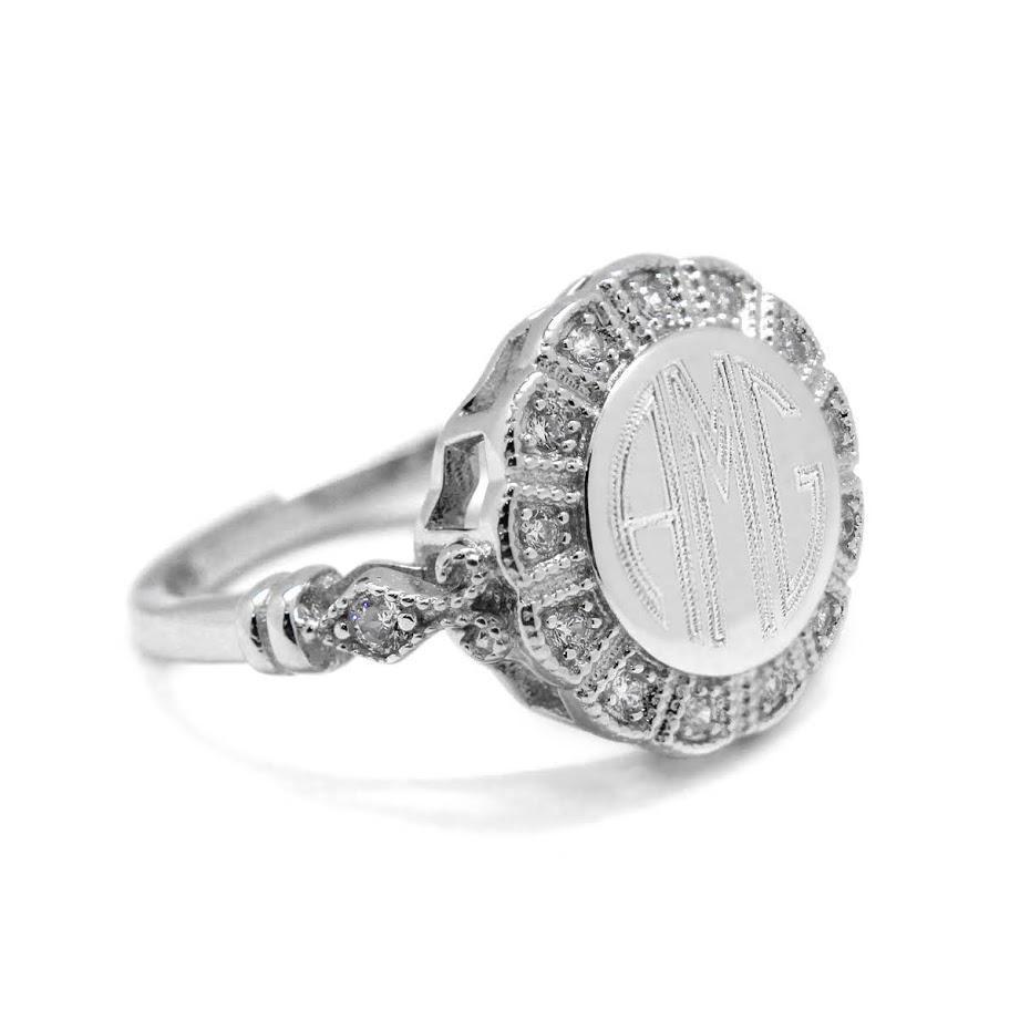 Rachel Round Flower CZ Ring