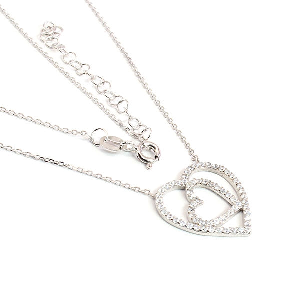 Sterling Silver Heart of Hearts Necklace