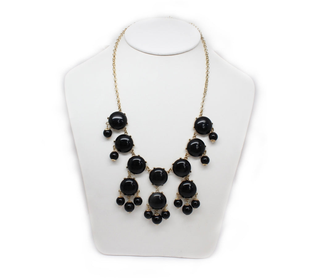 Black Chimes Statement Necklace