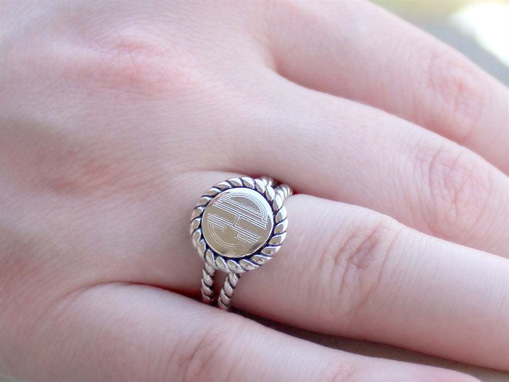 Designer Inspired Sterling Silver Engravable Ring