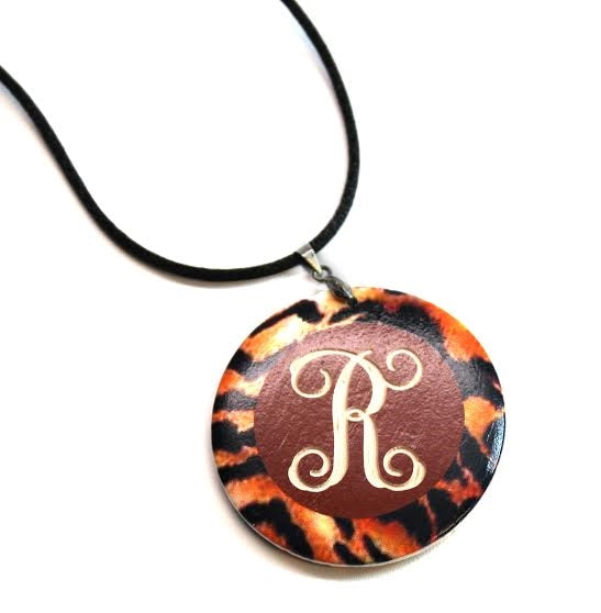 Tiger Print Engravable Pendant - Allyanna Gifts