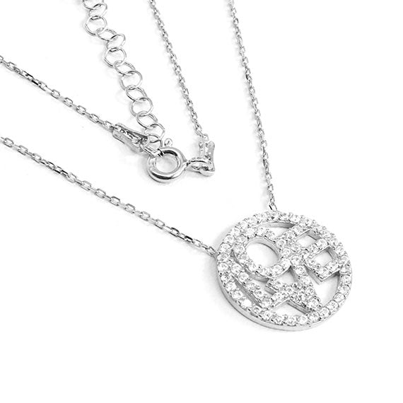 Sterling Silver Circle of Love Necklace