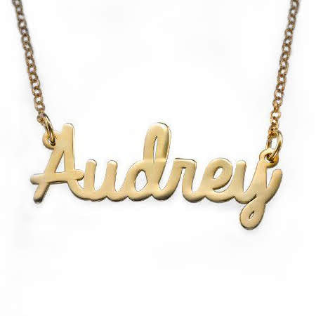 18k Gold Plated Personalized Cursive Name Necklace - Allyanna Gifts