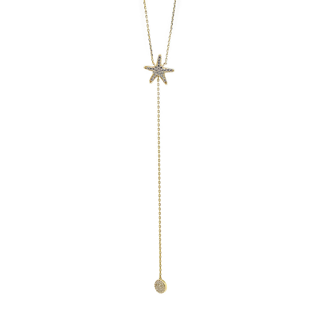 Starfish CZ Pendant Necklace