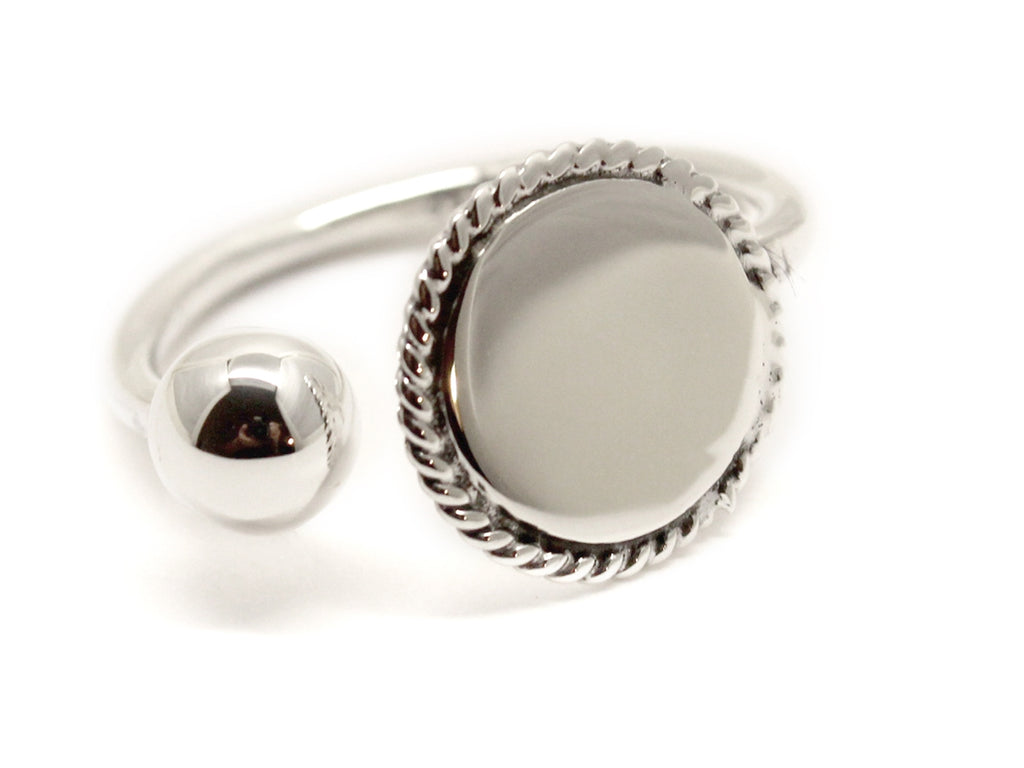 Sterling Silver Engravable Cuff Ring