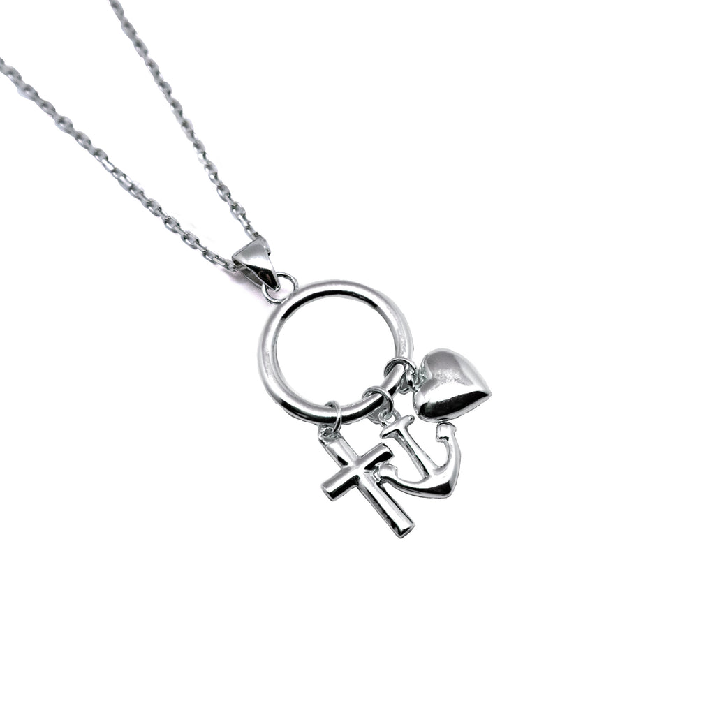 Anchor x Cross Charm Necklace