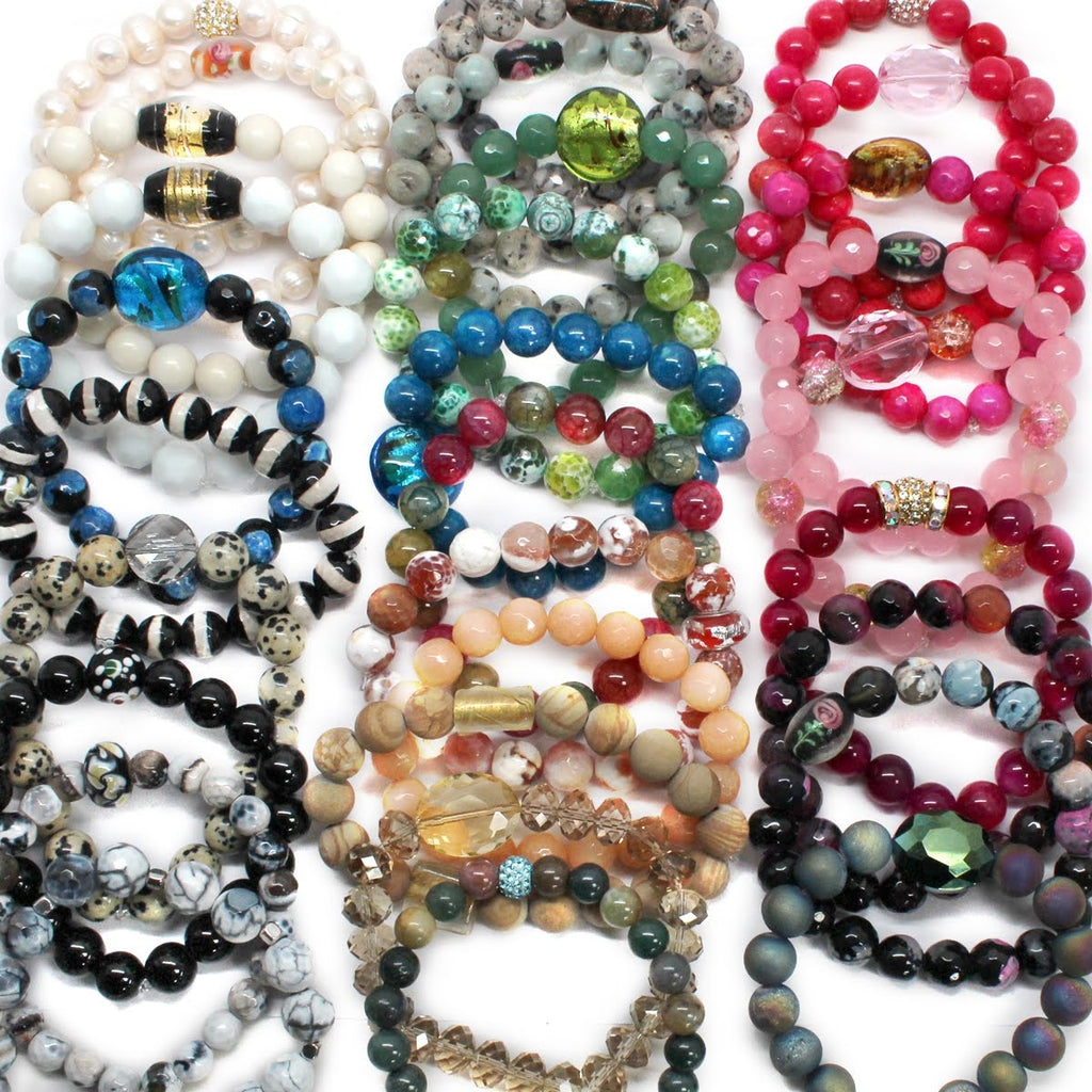 Beaded Layered Bracelets-Set of 3