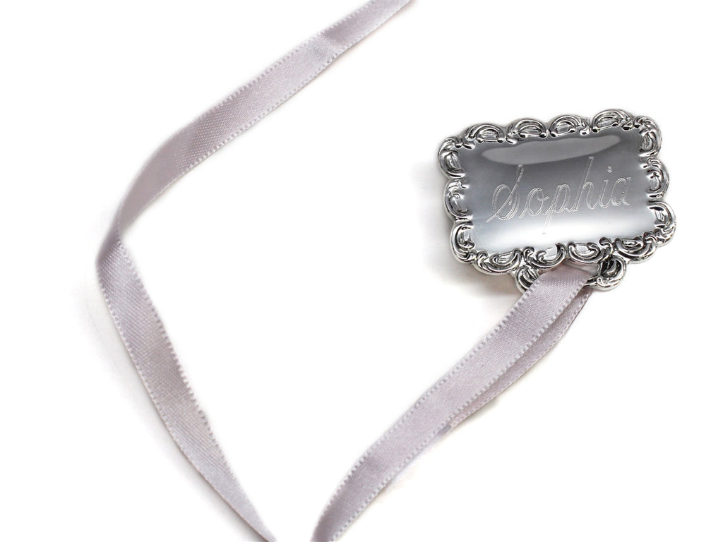 Engraved Baby Pacifier Holders