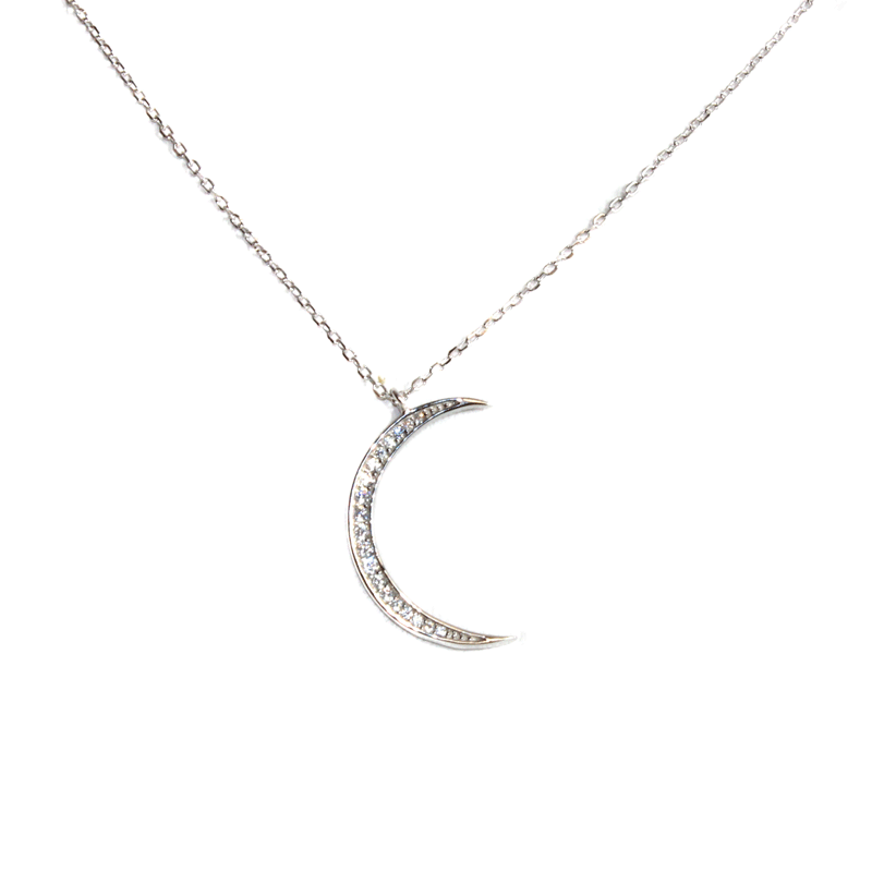 Crescent Moon Necklace - Allyanna Gifts