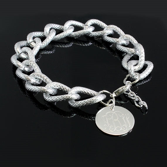 Frosted Chain Charm Bracelet - Allyanna Gifts