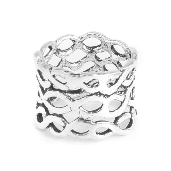 Sterling Silver Net Bohemian Accent Ring