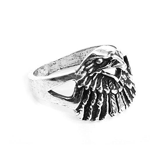 Sterling Silver Fly Like an Eagle Ring - Allyanna Gifts