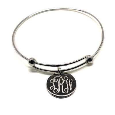 EXPANDABLE ENGRAVED BANGLE BRACELET - Allyanna Gifts