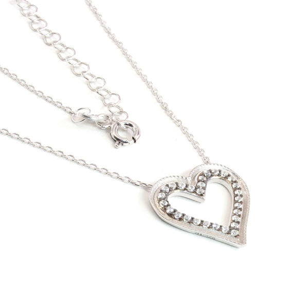 Sterling Silver Heart of Gold Necklace - Allyanna Gifts