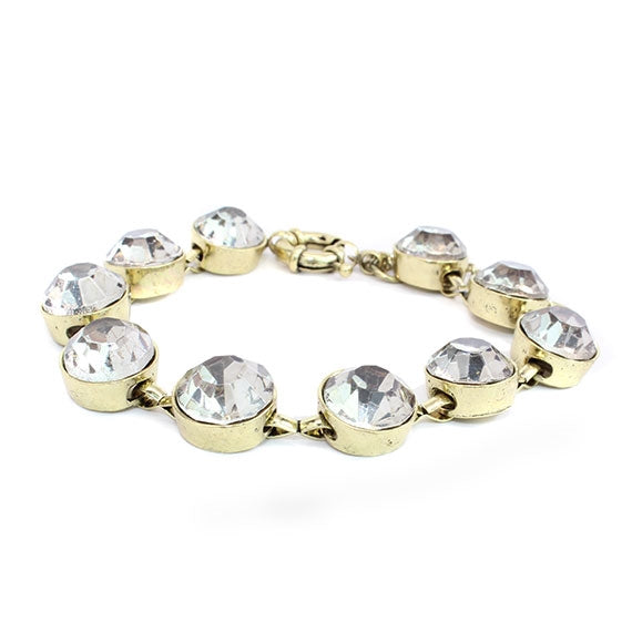 Clear Crystal Dot Bracelet