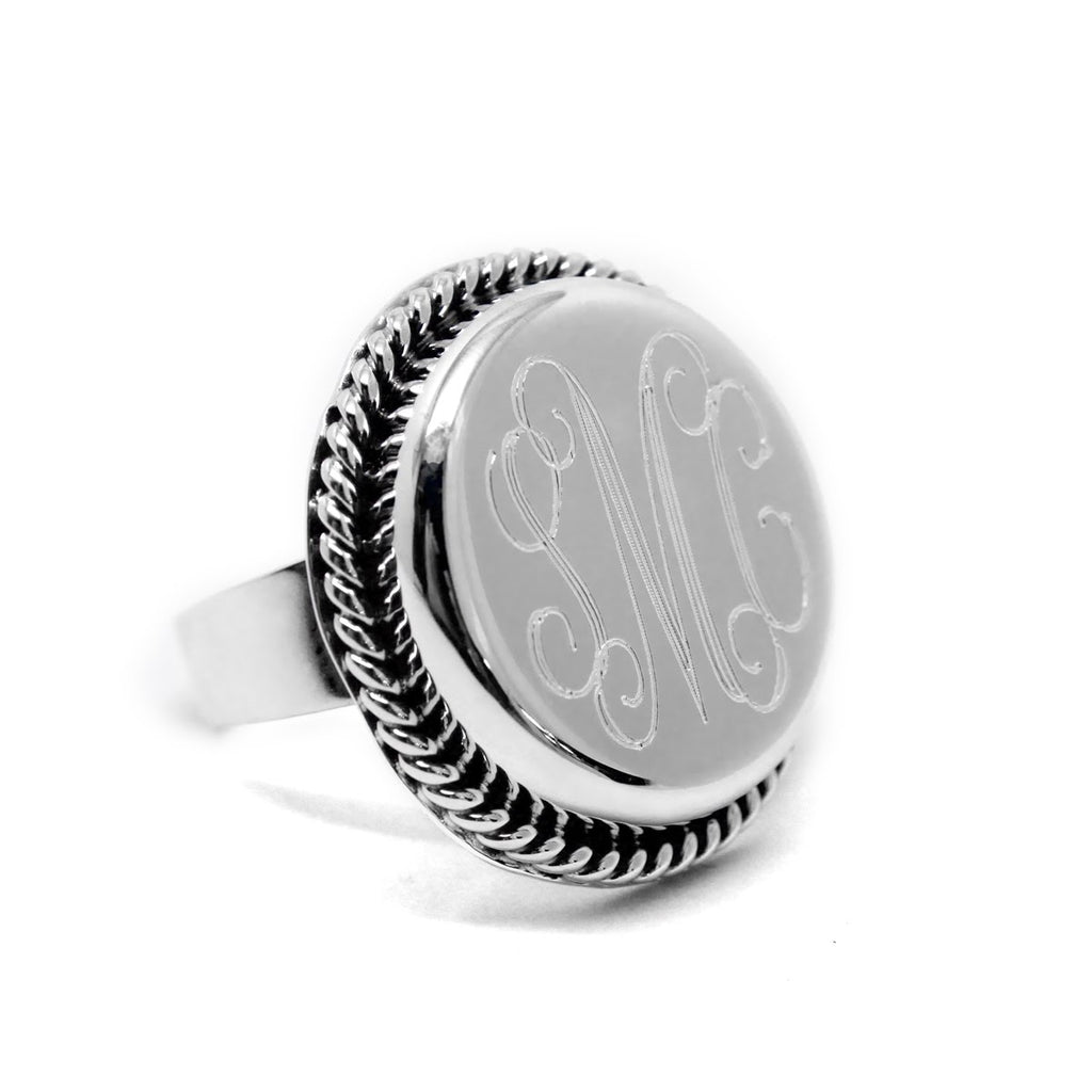 Sterling Silver Radiant Rope Ring