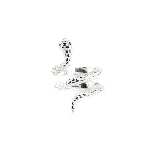 Sterling Silver Serpent Ring - Allyanna Gifts