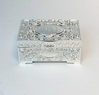 Rectangular Garden Flower Jewelry Box