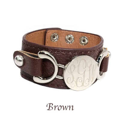 Engravable Faux Leather Cuffs - 12 Colors! - Allyanna Gifts