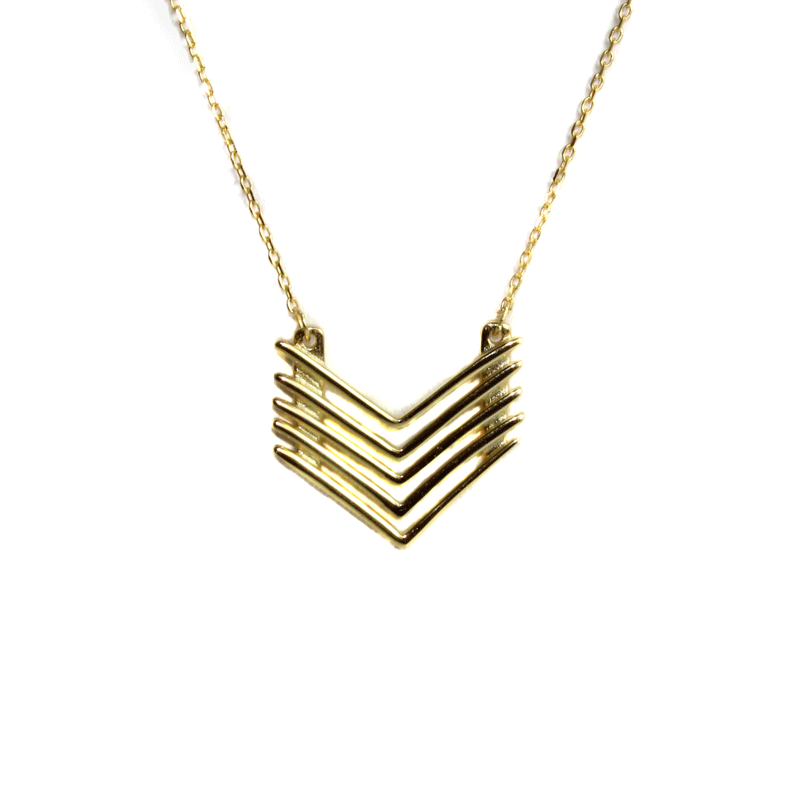 Golden Quad Arrow Necklace