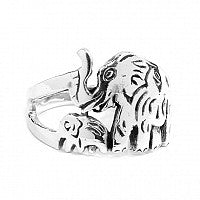 Sterling Silver Elephant Path Ring