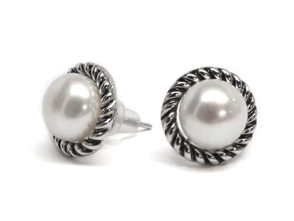 Sterling Silver Pearl Rope Earrings