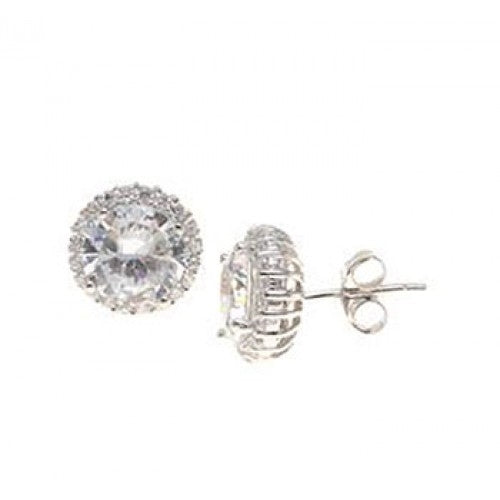 "Sterling Silver 0.2"" Stud Earrings"