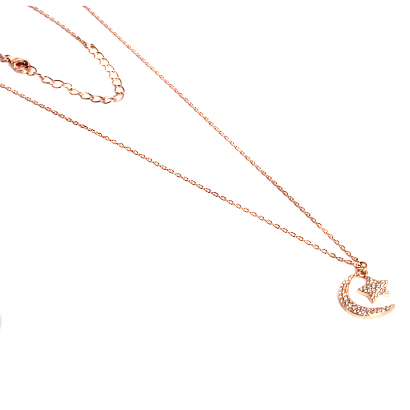 Rose Gold Crescent Necklace - Allyanna Gifts