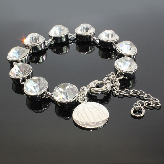 Crystal Clear Dot Charm Bracelet