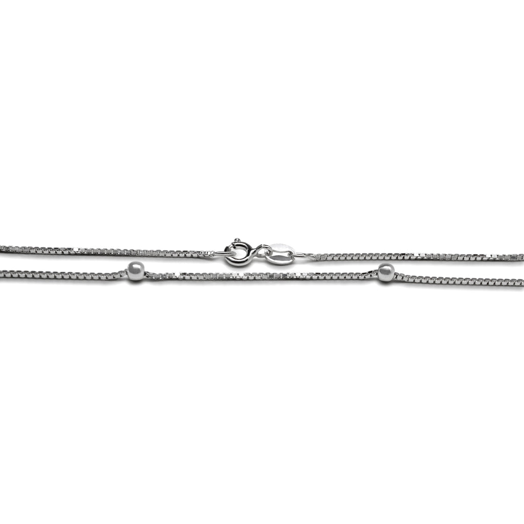 2MM Four Bead Anklet